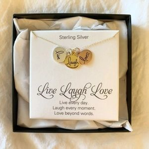 Sterling Silver Live Laugh Love Necklace